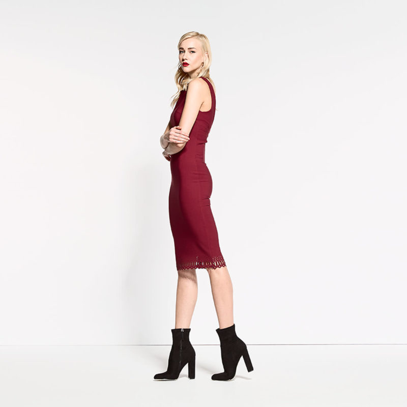 Φόρεμα με λέιζερ κοψίματα στο κάτω μέρος