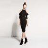 Ελαστικό φόρεμα με ανοίγματα στους ώμους