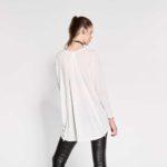 Μπλούζα με ψηφιακό οικολογικό τύπωμα και στρας