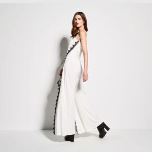 Jumpsuit with lace details back