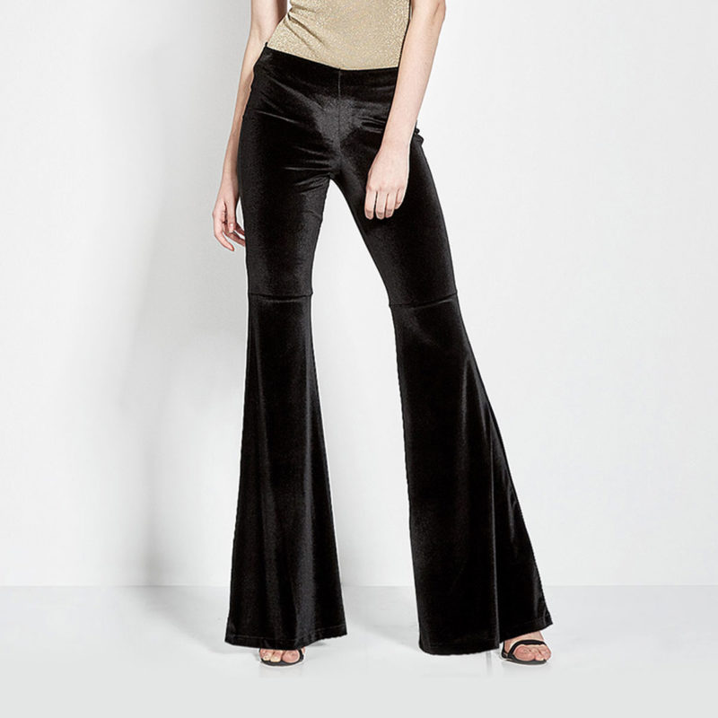 Velvet pants with belly end-front