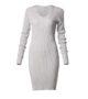 Φόρεμα ελαστικό με λούρεξ και μακρύ μανίκι-γκρι-μπροστά