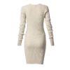 Φόρεμα ελαστικό με λούρεξ και μακρύ μανίκι-χρυσό-πίσω
