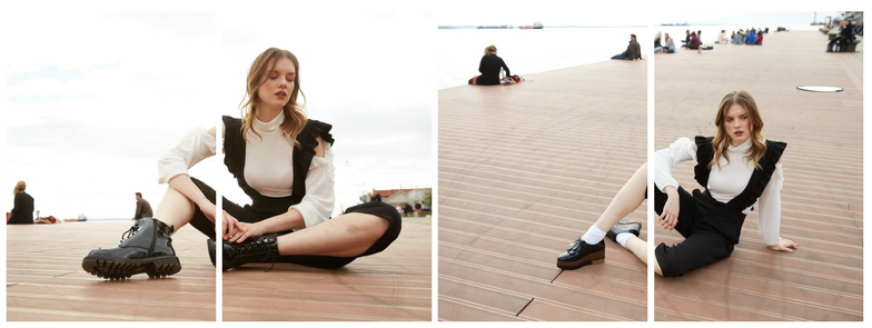 jumpsuits in Thessaloniki's Port Photoshooting