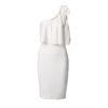 Ελαστικό φόρεμα ακάλυπτο ώμο και διακοσμητικό φιόγκο