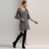 Ασπρόμαυρο φόρεμα με γεωμετρικά σχέδια