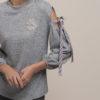 Μπλούζα με φιόγκο στα μανίκια