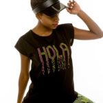 Cinderella t-shirt με τύπωμα «Hola»