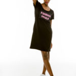 Cinderella φόρεμα με τύπωμα «Fashion Goals»
