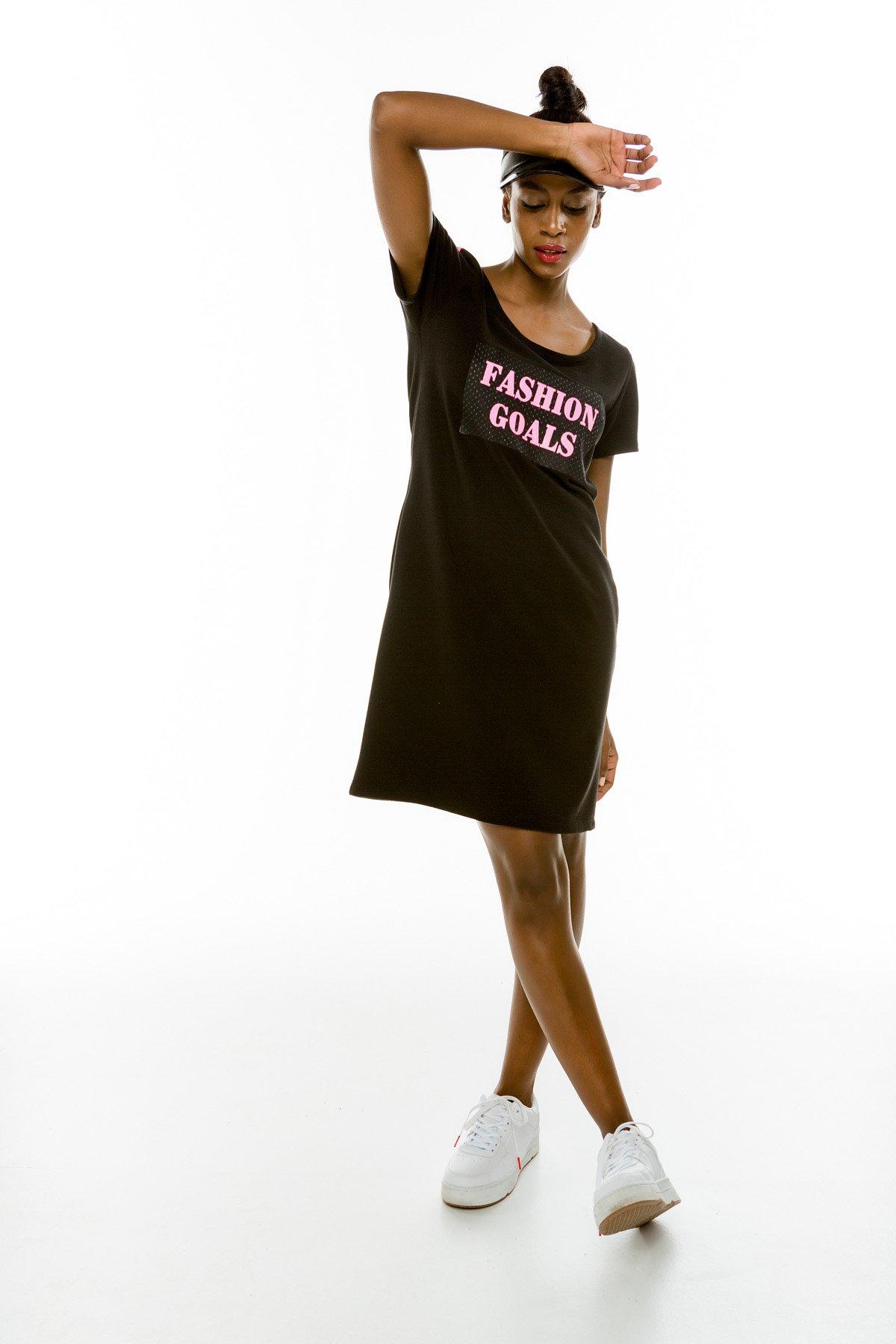 """Cinderella φόρεμα με τύπωμα """"Fashion Goals"""""""