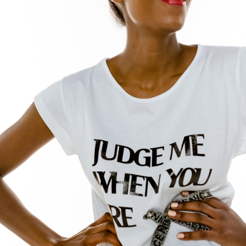 "Cinderella t-shirt με τύπωμα ""Judge Me When You Are Nice"""