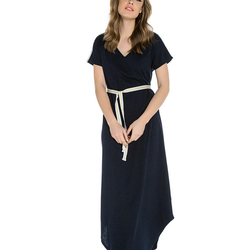 Cinderella μπλε maxi φόρεμα με υφασμάτινη ζώνη