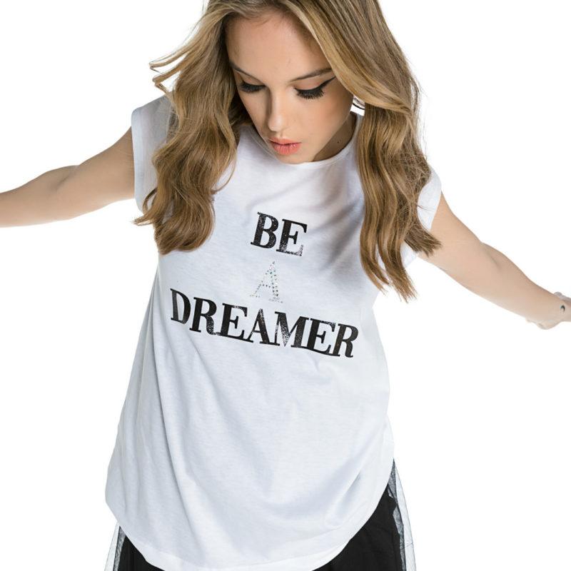 "Cinderella tee με τύπωμα ""Be A Dreamer"""