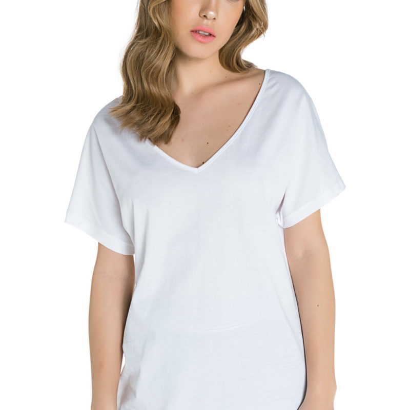 Cinderella λευκή μπλούζα με άνοιγμα στην πλάτη