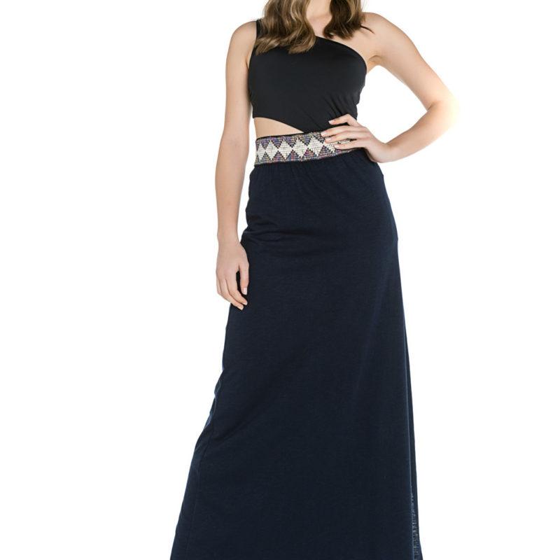 Cinderella φόρεμα με τον έναν ώμο έξω και άνοιγμα στην μέση